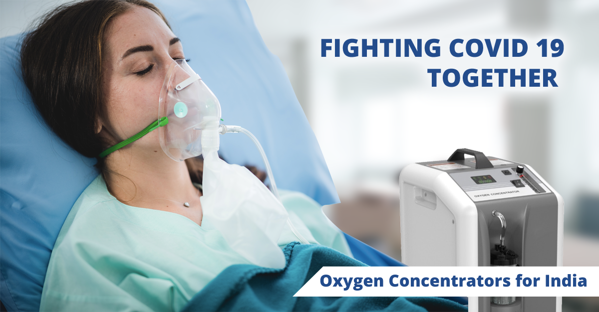 Impact of COVID-19 in India Lessened Through Supplement of Oxygen Concentrators