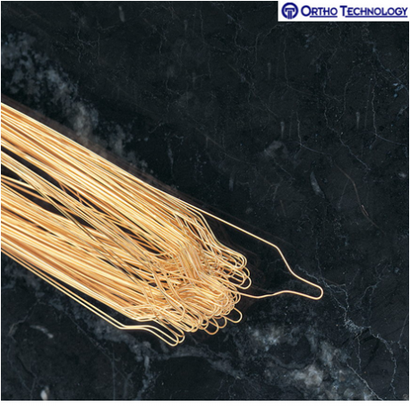 Ortho Technology Preformed Lig Ties Gold .010 100 Per Pack #G906-102