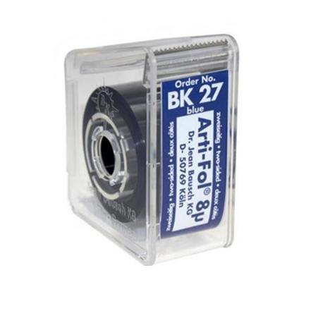 Arti-Fol Plastic Articulating Paper – 8µm, 22mm, 20m (Blue)