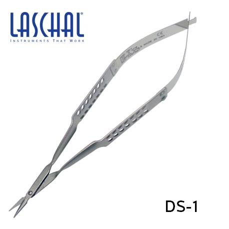 Laschal Straight Vannas Scissors w/1.0 cm Blades 13.5 cm # DS-1