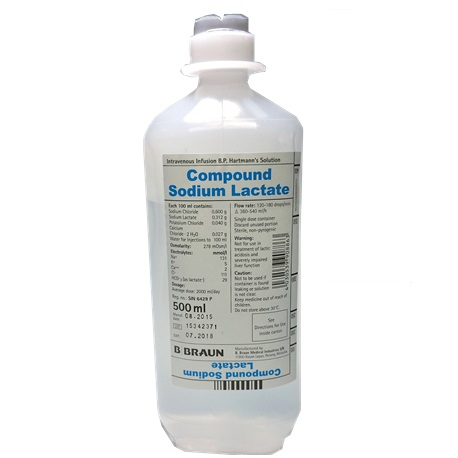 B Braun Compound Sodium Lactate Intravenous Infusion BP (Hartmann's Solution) 500ml