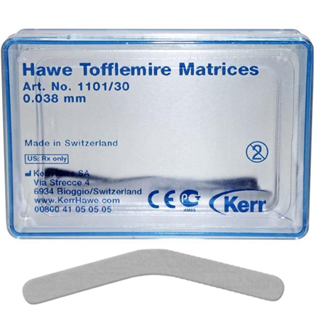 Hawe Tofflemire Matrices 0.038mm in thickness 30/box # 1101/30