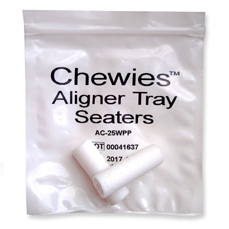 Chewies Aligner Tray Seaters (pack of 20pcs), White unscented