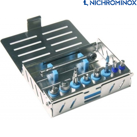 Nichrominox Implant Cassette/Tray for 8 instruments+1 Ratchet