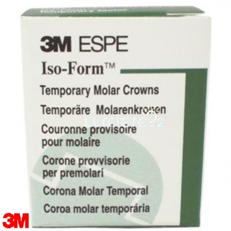 3M Iso-Form Temporary Bicuspid Replacement Molar Crowns-Lower, 5/Pack