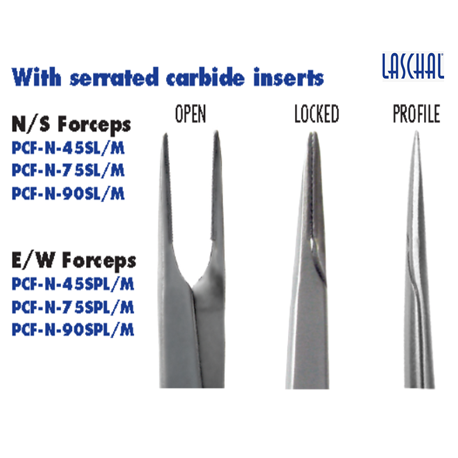 Laschal File Retrieving Forceps With Thumb Lock