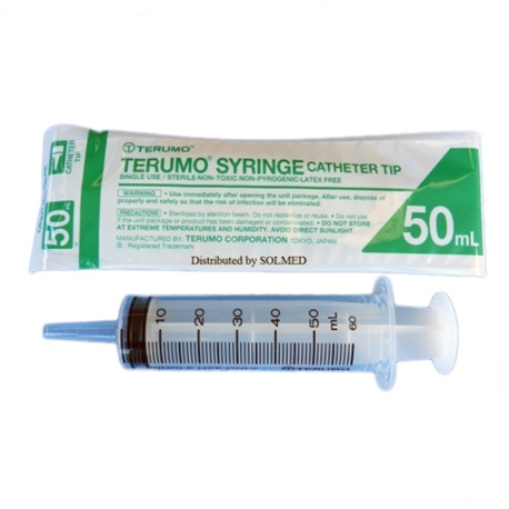 Terumo Disposable Syringe w/o Needles-Catheter Tip 50ml (20pcs/box)