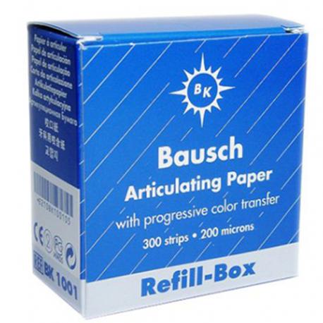 Bausch BLUE Articulating Paper Strips (200 microns) REFILL, 300/Box