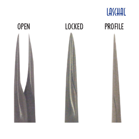 Laschal 75' N/S [Micro] Diamond Dusted Forceps with thumb lock