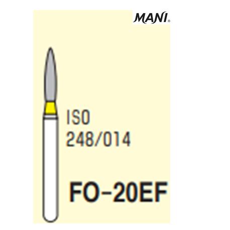 MANI Diamond Bur Flame Shaped,Extra Fine FO-20EF (5pcs/pack)