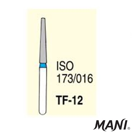 MANI Diamond Bur Tapered Fissure TF-12 (5pcs/pack)