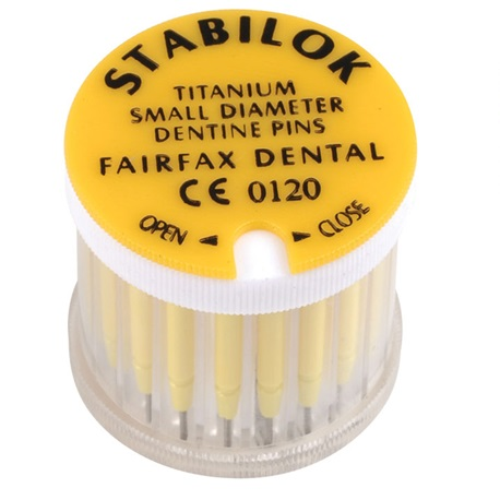 Stabilok Pin Yellow, Titanium. Size .021'' (20pcs/box)