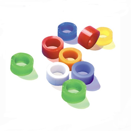 Colour Code Rings, Small, Assorted colors (500 pcs/pack)