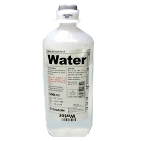 B Braun Water for Injections B.P. 500ml