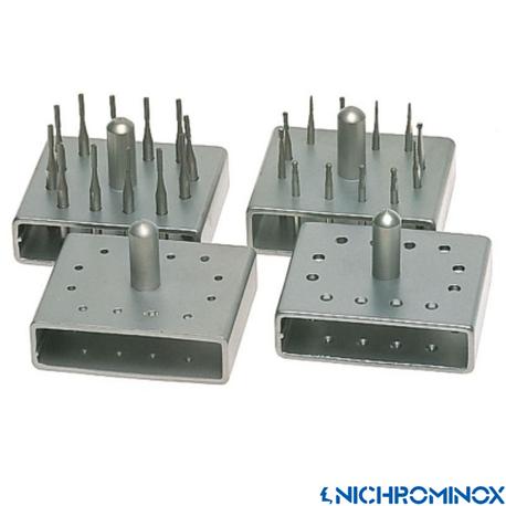 Nichrominox 12 holes Bur Block for High Speed and Low speed burs