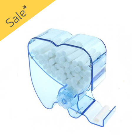 Cotton Roll Dispenser- Rolling Type Blue