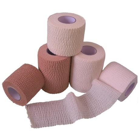 Non-woven Adhesive Bandage Rroll, 30g Skin Color, 5cmx4.5m (12/Box)
