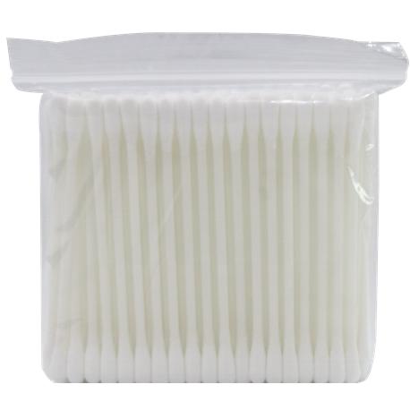 Assure Cotton buds (Plastic) in zip bag, 100pcs/pkt,10pkt/bag