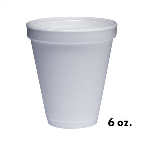 6oz. Foam Cups White (1000pcs/carton)