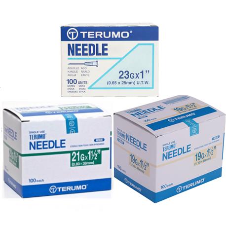 Terumo Disposable needles 19G/21G/23G/27G/30G (100pcs/Box)