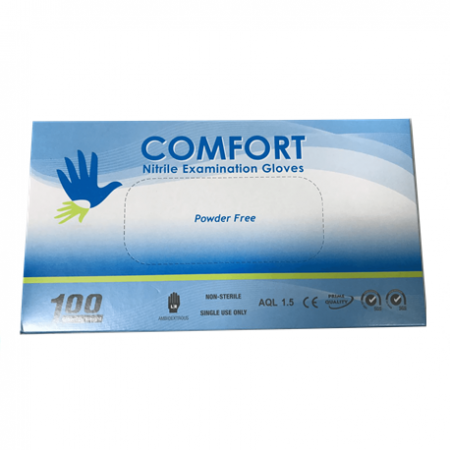 Comfort Nitrile Examination Gloves Powder-Free (Per Box)