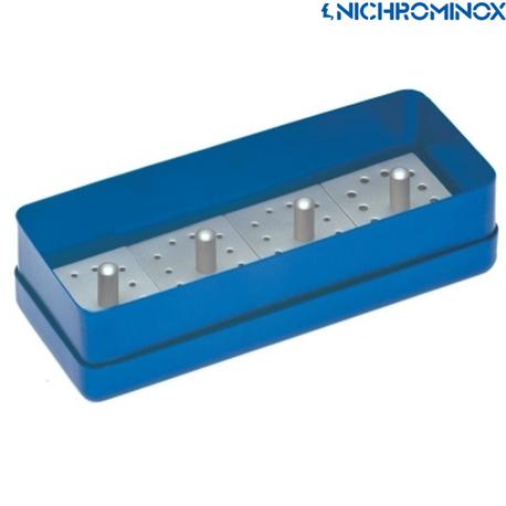 Nichrominox 12 holes 4 Bur blocks with 1 Aluminium box