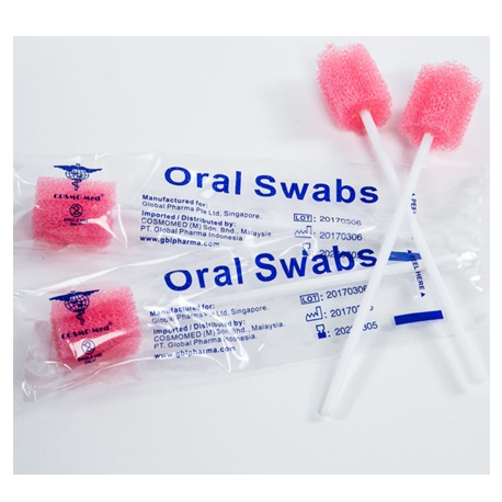 Oral Swab Stick,12.5cm stick  Box/100s