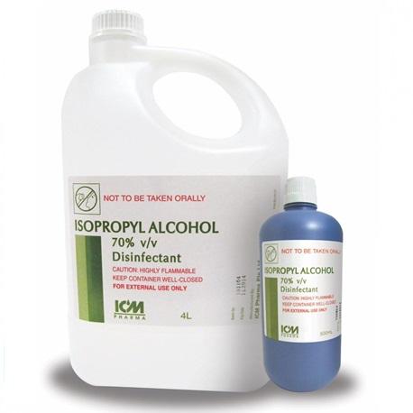 Isopropyl Alcohol 70% v/v (4 Litre Jar)