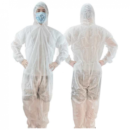 Disposable Non-Woven Protective Coverall Full Body Suit, 30gm, Per Piece