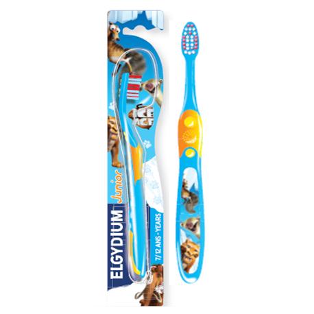 Elgydium Ice Age Junior ( 7-12  yrs) Toothbrush ( X8 Packs )