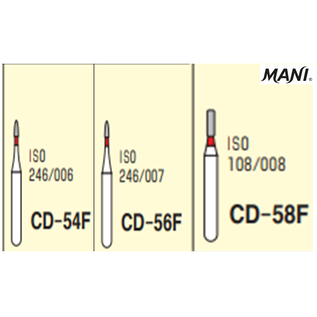 MANI Diamond Bur Children Dentistry,Fine  (5pcs/pack)