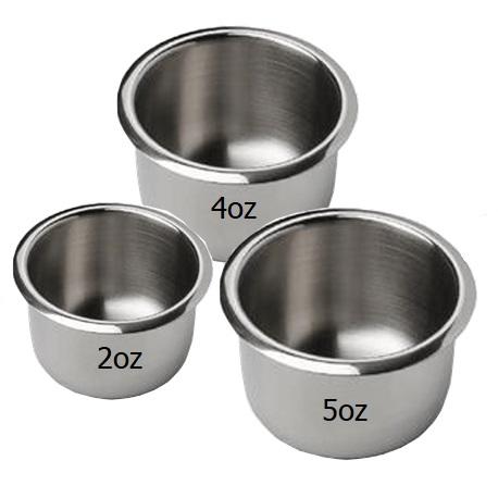 Stainless Steel Gallipot 2oz, 4oz, 5oz