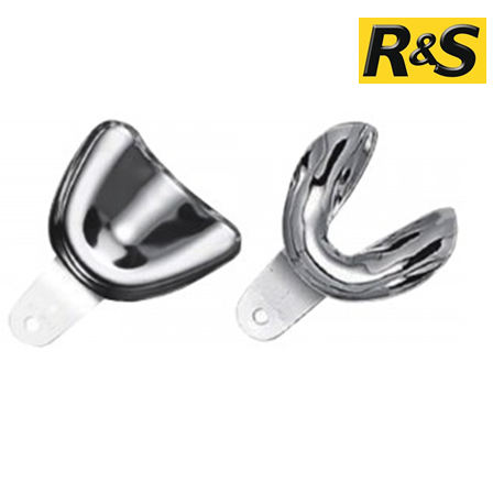 R&S Stainless Steel Non-Perforated Impression Trays - (5 upper & 5 lower Set)