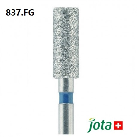 Long Cylindrical Diamond Bur, FG, 5pcs/pack (837.FG)