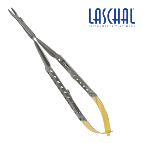 Laschal Round Handled Needle Holder w/suture Cutter and Straight Tips #CE2-731-10R/L