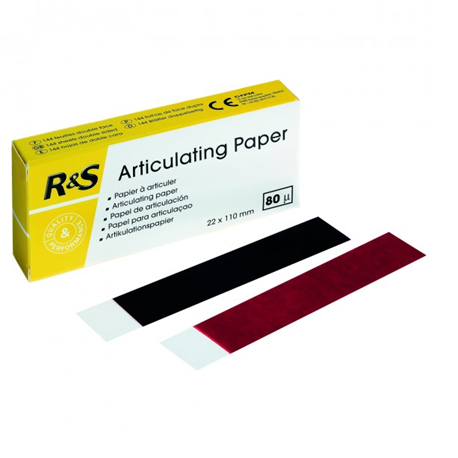 R&S Articulating paper 80 micron blue/red (144)