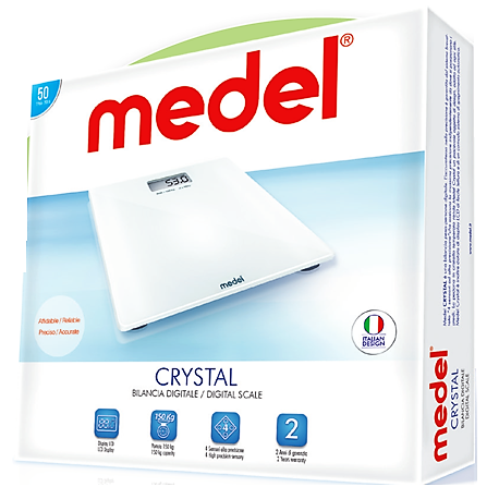 Medel Crystal Glass Digital Scale/ Weighing Scale