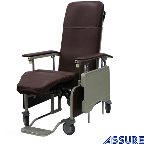 Assure Mobile Full Reclining Geriatric Chair,98-150 degree,Brown