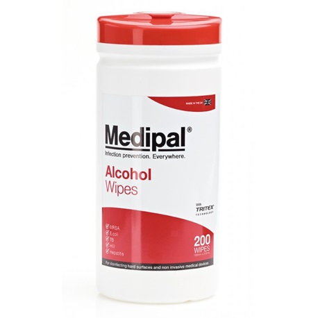 Medipal Alcohol Wipes Canister Pack of 200