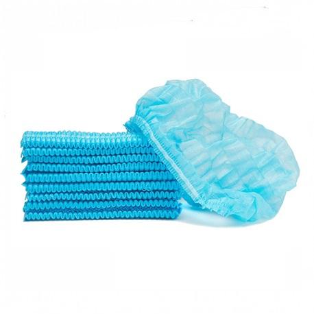 Tribest Bouffant Fluid Resistant Clip Cap - Blue (100pcs/Pack)