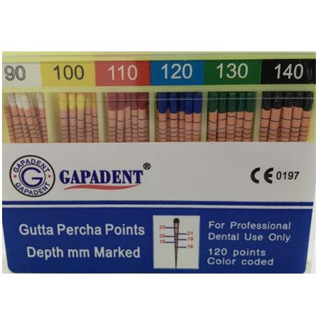 Gapadent Gutta Percha (GP) Points, (#90-140 & Assorted Sizes)