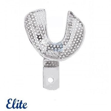 Elite Impression Tray Lower, Perforated, Edentulous