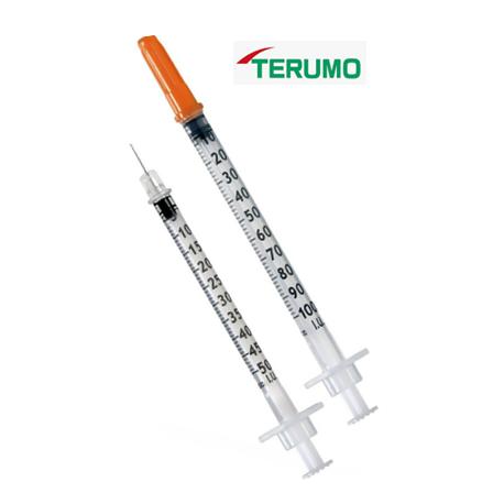 Terumo Sterile disposable insulin syringe, 29gx1/2'' (100pcs/box)
