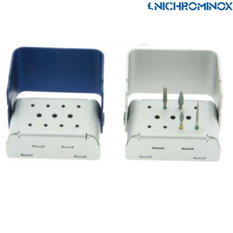 Nichrominox Aluminium 11 holes Color Bur Block/holder