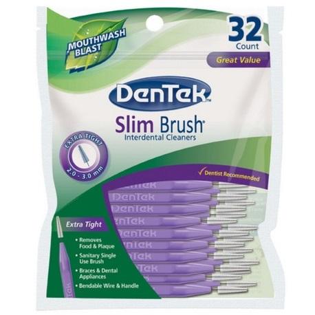 DenTek Slim Interdental Brushes, 32pcs/pack