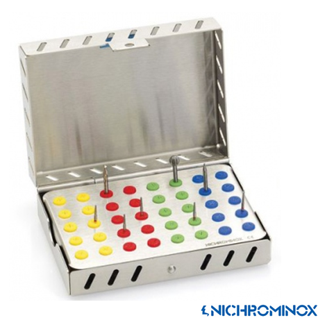 Nichrominox Cassette +Plug'in 40-holes Bur holder Plate