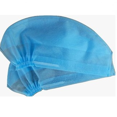 Disposable Doctor's Cap 30gsm,Elastic, Blue, 100pcs/pack