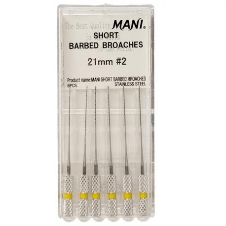 Mani Short Barbed Broches 21mm, 6pcs/pack