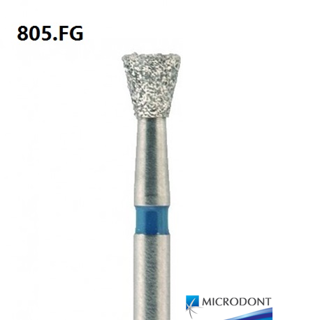 Microdont Diamond Inverted Cone Bur, Regular Grit, FG, 10pieces/pack (805.FG)