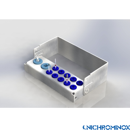Nichrominox Multi Plug'in Bur holder for 10 burs and 2 Scaling tip